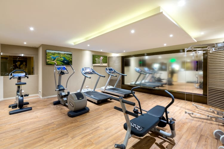 Fitness Room at Hotel Barriere Le Gray d'Albion in Cannes