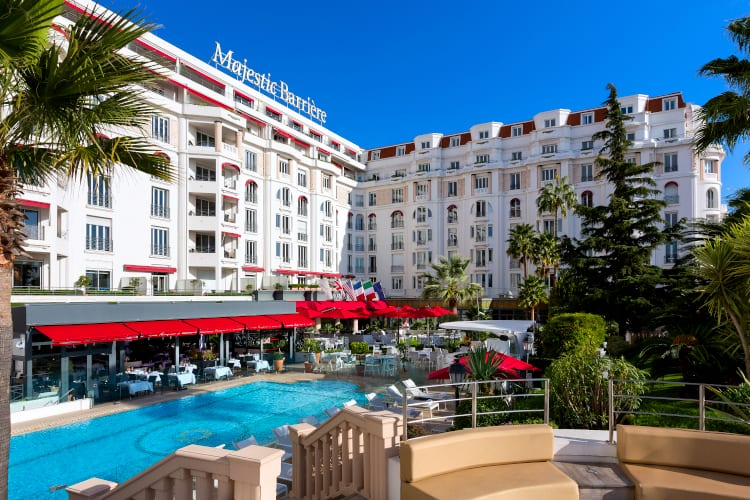 Swimming Pool at Hotel Barriere Le Majestic Cannes