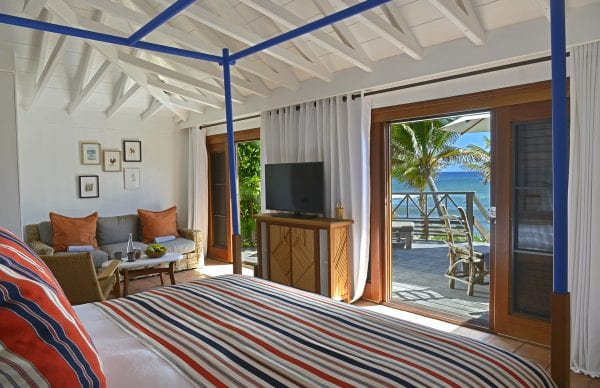Bedroom with an outdoor terrace Hôtel Manapany *****