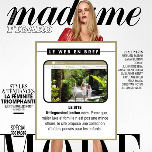 Parution Madame Figaro Little guest