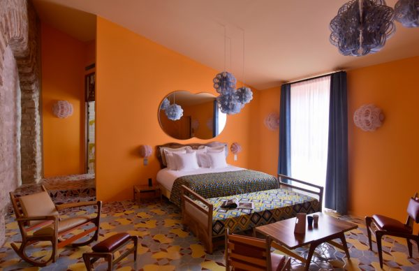 Arlatan Hotel orange room The Little Guest Hotels collection