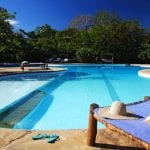 Kinondo Hotel outside swimming pool Kenya