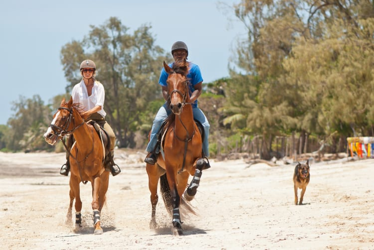 Kinondo Beach Kenya horse riding