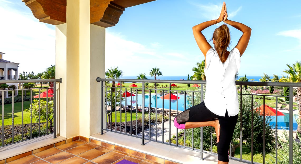 Relaxing yoga moment at the Cascade Wellness & Lifestyle Resort in Lagos