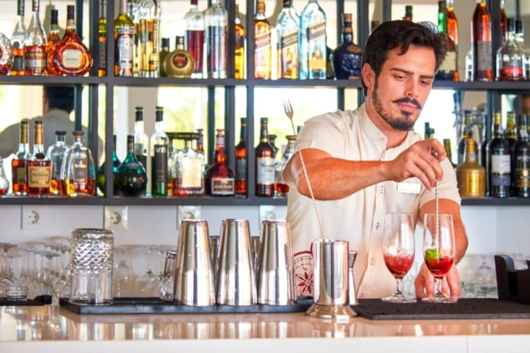 Barman at Cascade Wellness & Lifestyle Resort in Portugal