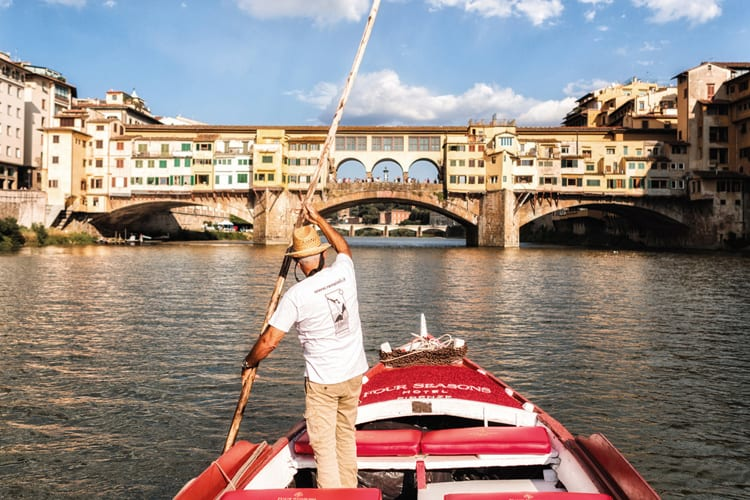Boat trip in Firenze with the Four Seasons Hotel Firenze in Italy