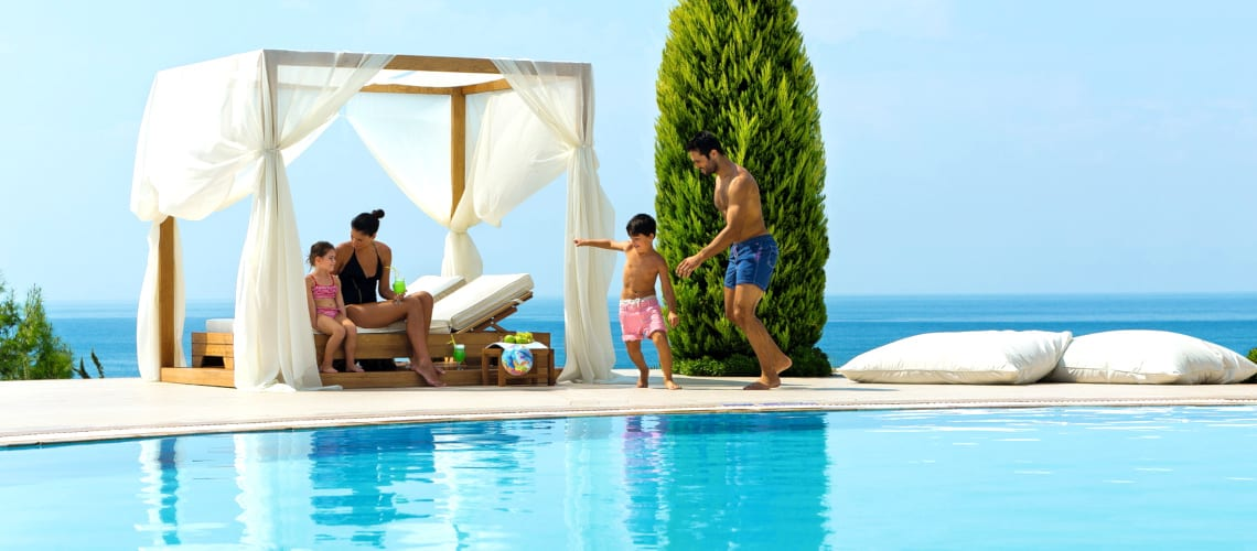 Family time at the Ikos Oceania in Greece