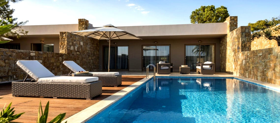 Private swimming pool at the Ikos Olivia Resort