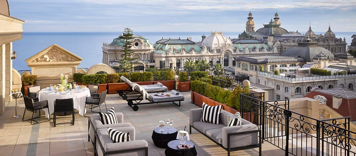 The rooftop view from Metropole Monte Carlo