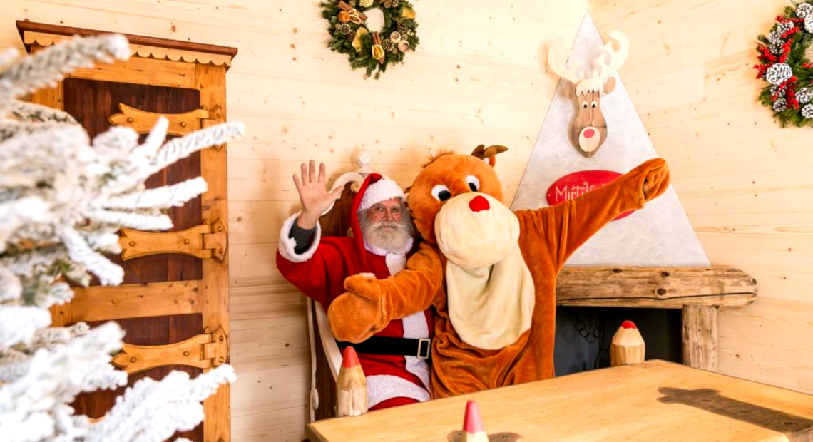 Christmas time with Santa Claus with Rudolph the the Red-Nosed Reindeer at the Mirtillo Rosso Family Hotel
