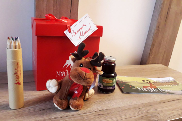 Welcome gift for kids staying at the Mirtillo Rosso