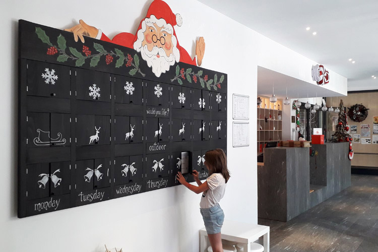Advent calendar at the Mirtillo Rosso