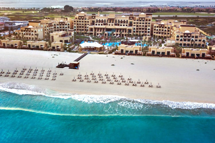 Aerian view of the Saadiyat Rotana Resort & Villas hotel