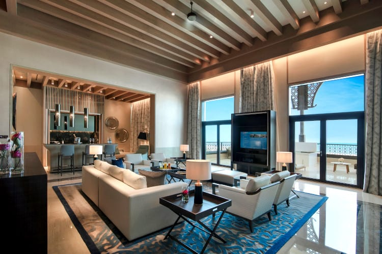 Saadiyah Suite of the Saadiyat Rotana Resort & Villas hotel