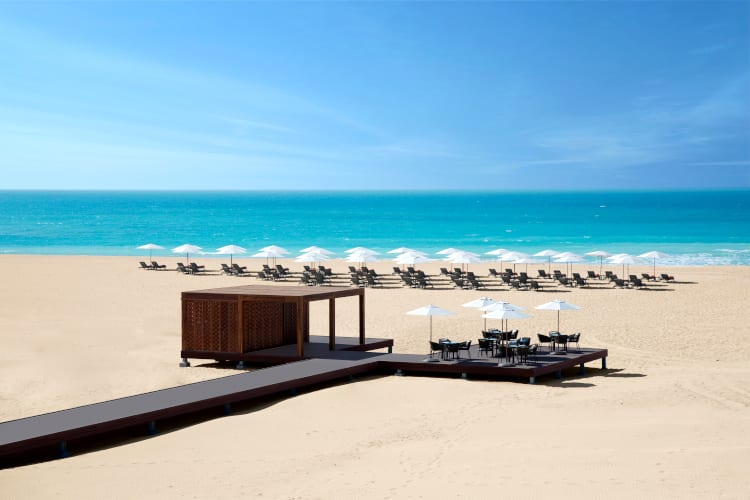Amazing beach of the Saadiyat Rotana Resort & Villas hotel