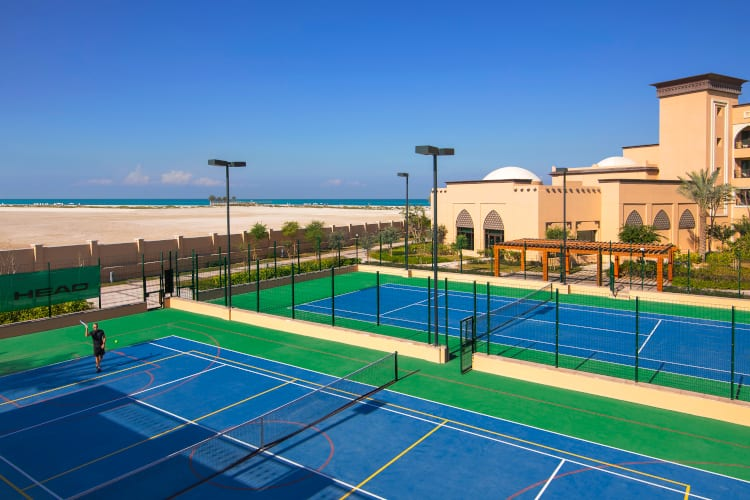 Tennis court of the Saadiyat Rotana Resort & Villas hotel