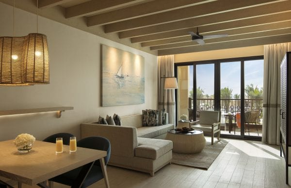 Saadiyat Rotana Resort and Villas Bedroom with a spacious living room