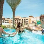 Saadiyat Rotana Resort and Villas Family playing in the pool
