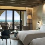 Saadiyat Rotana Resort and Villas Bedroom with twin beds