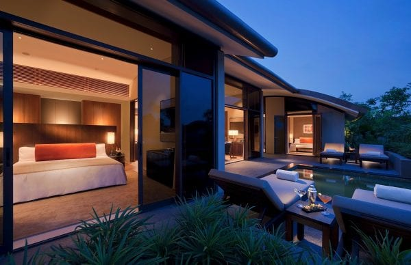 Room with terrace at Capella Singapore