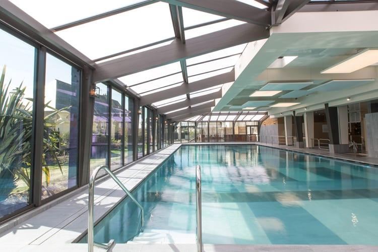 Indoor pool at the Grand Hotel des Thermes in Saint Malo