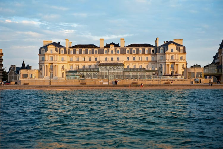 Aerian view of the Grand Hotel des Thermes in Saint Malo