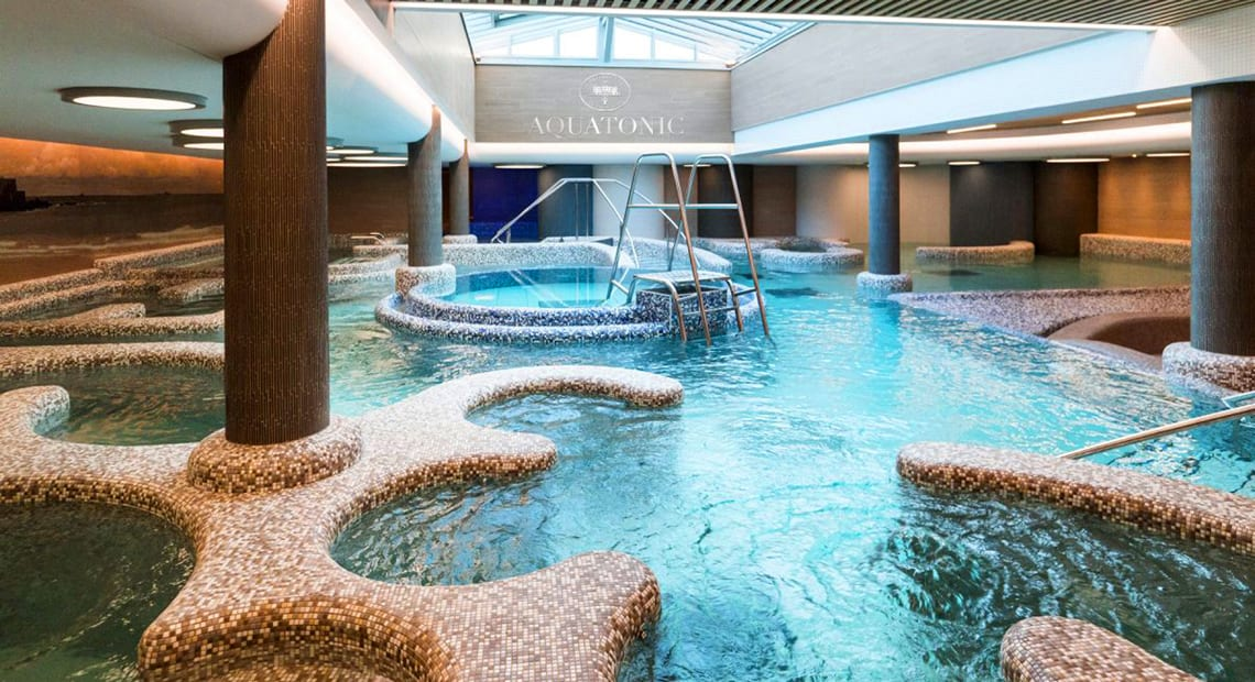 The amazing Aquatonic spa at the Grand Hotel des Thermes in Saint Malo