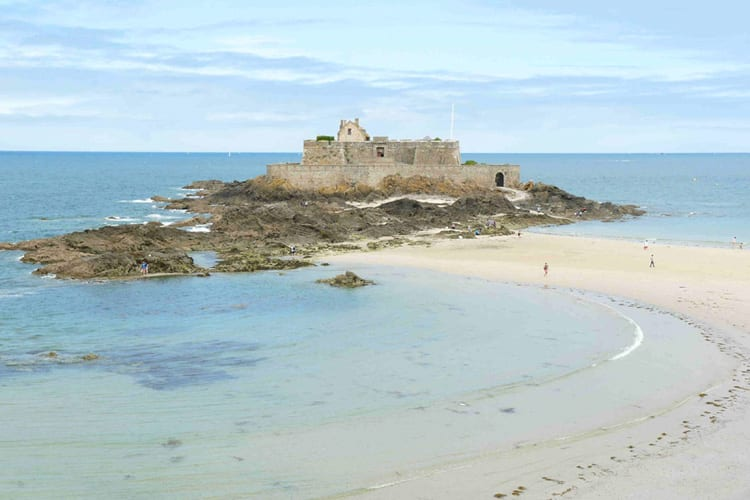 Beach in Saint Malo