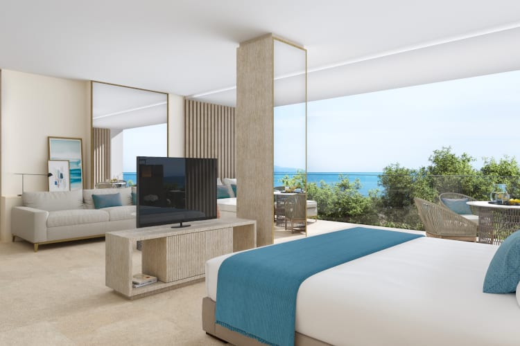 One of the Ikos Andalusia rooms overlooking the ocean