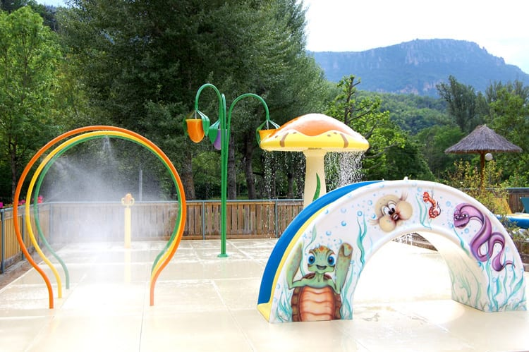 the water playground of the Mas de Thau