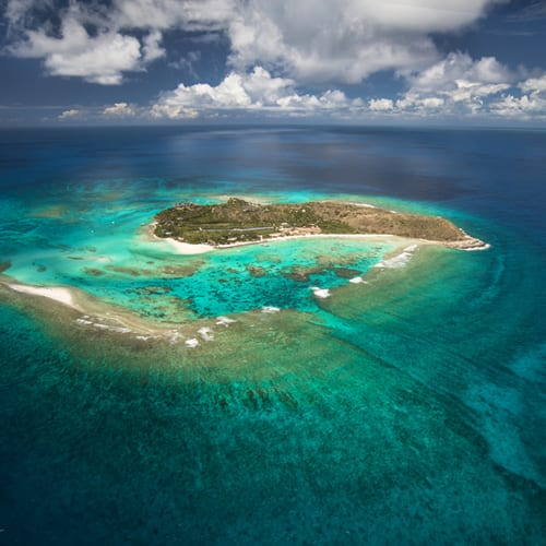 The superb Necker Island, property of Sir Richard Branson