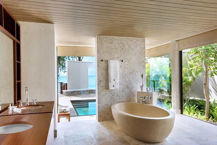 Bathroom in St Regis Mauritius Suite