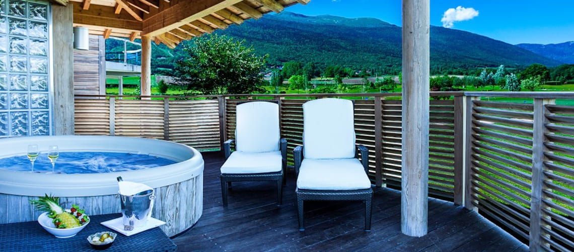 The patio of the family room at Jiva Hill Resort