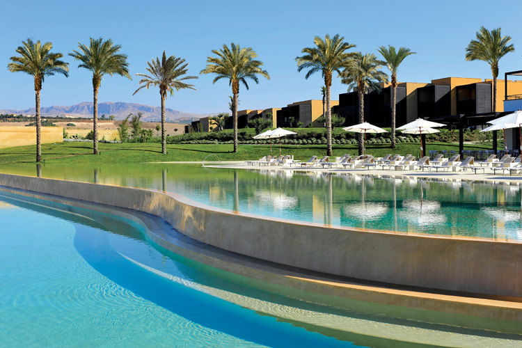 The amazing outdoor pool at the Verdura Resort in Sicily