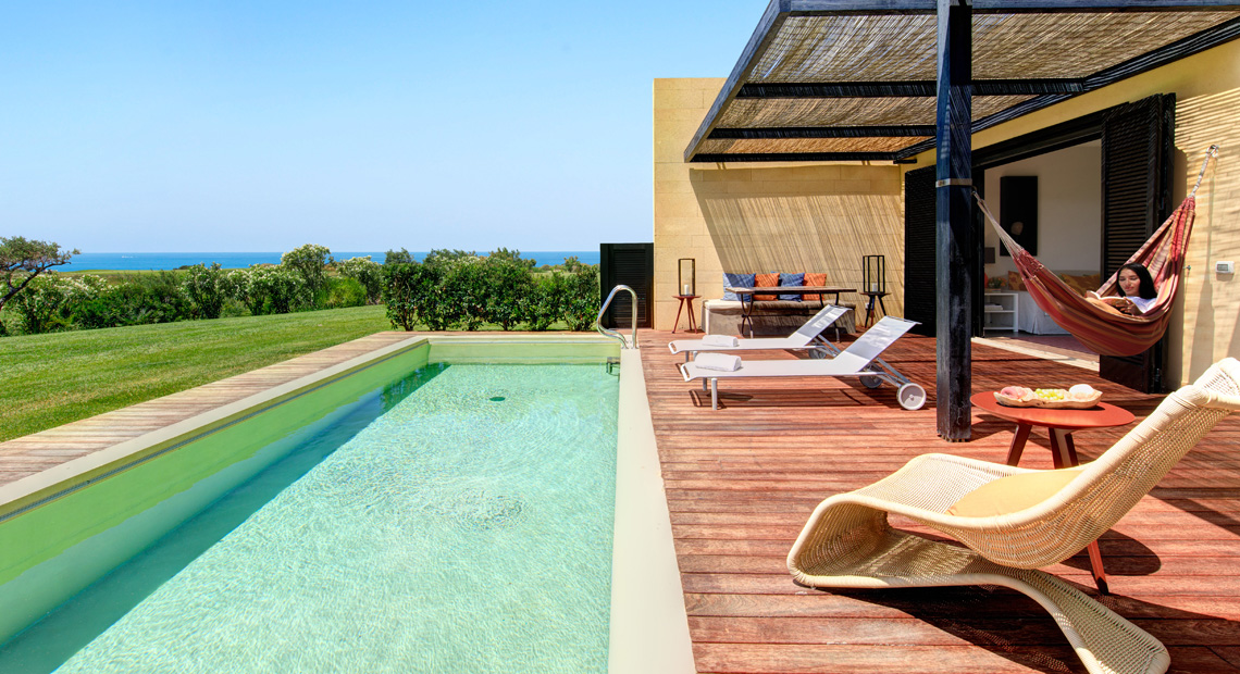 The superb outdoor pool at Verdura Resort in Sicily