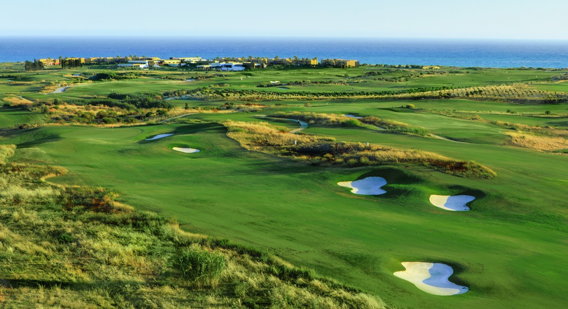 The golf course at Verdura Resort in Sicily