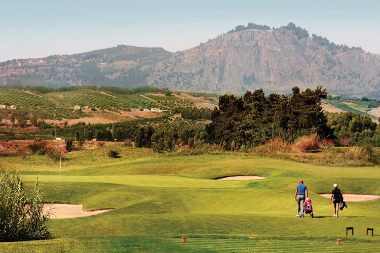 The superb golf course at Verdur Resort in Sicily