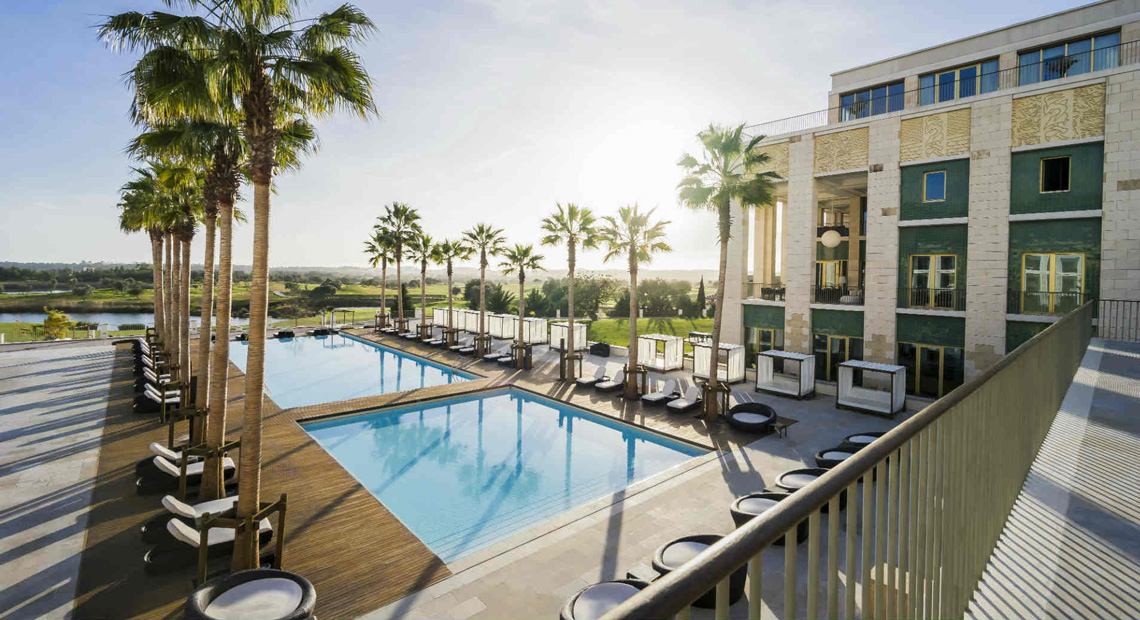 The main pool of the Anantara Vilamoura Algarve Resort
