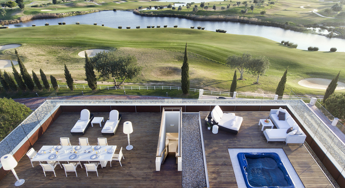 Breathtaking views overlooking the Golf fairway in Anantara Vilamoura Algarve Resort