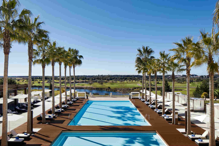 One of the Anantara Vilamoura Algarve Resort pools