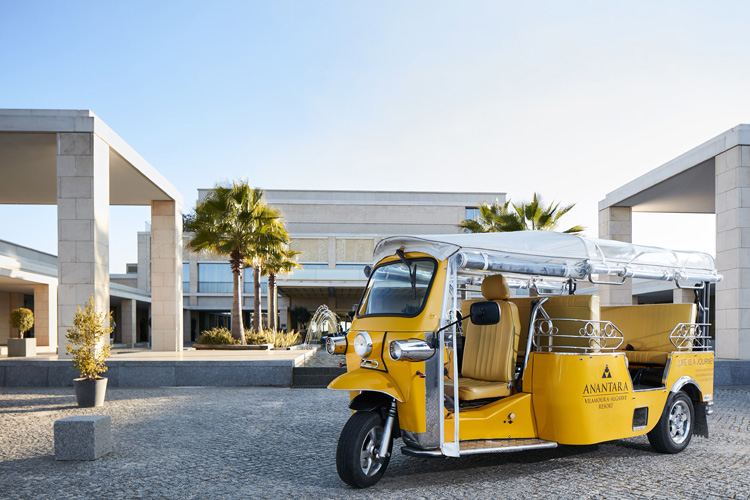 The Anantara Vilamoura Algarve Resort shuttle