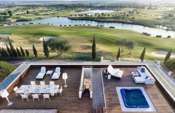 Anantara Vilamoura Algarve Resort rooftop with a hot tub