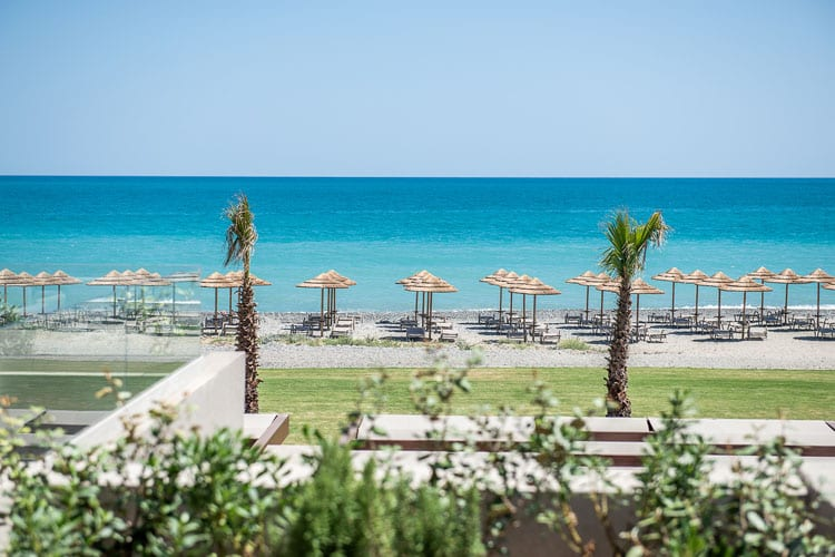 Euphoria Resort in Crete: beach view