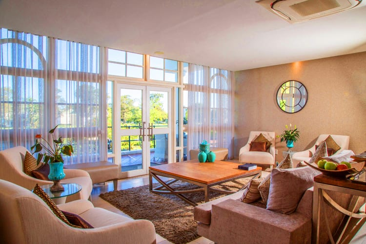 The superb living room at Fancourt Hotel in South Africa