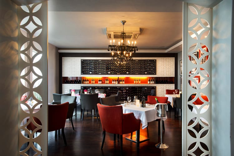 The superb restaurant at Fancourt Hotel in South Africa