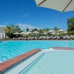 Outdoor swimming pool of Fancourt Hotel