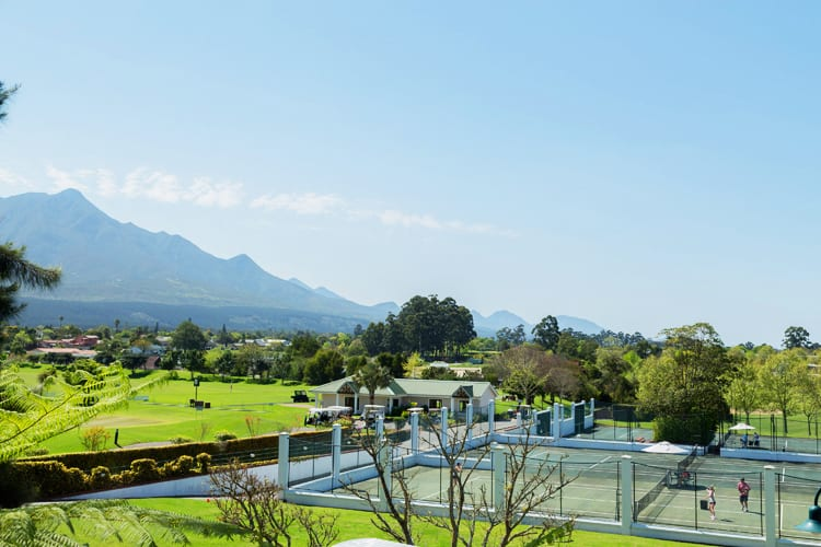 Pools at Fancourt Hotel in South Africa