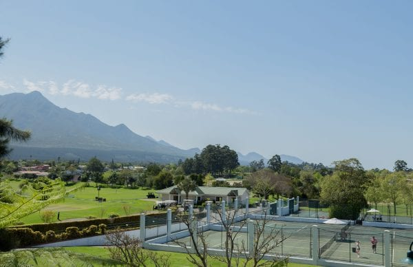 Tennis courts of Fancourt Hotel