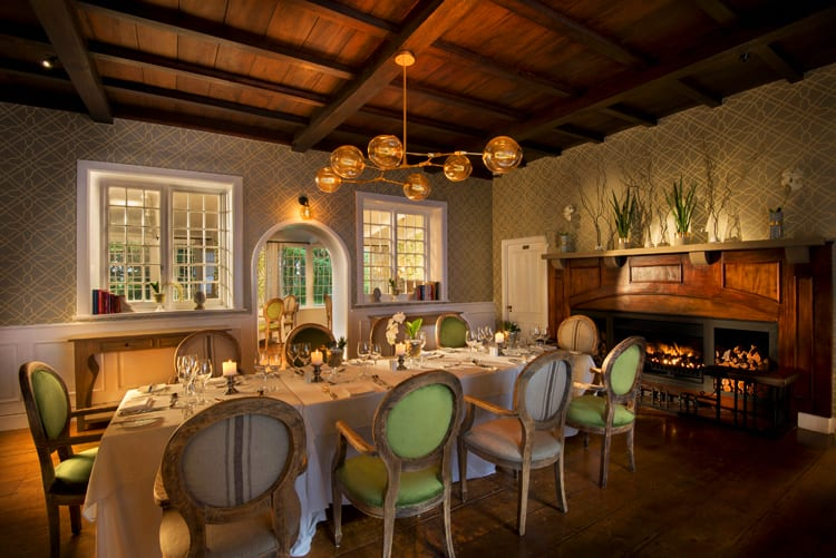 The superb dinning room at Fancourt Hotel in South Africa