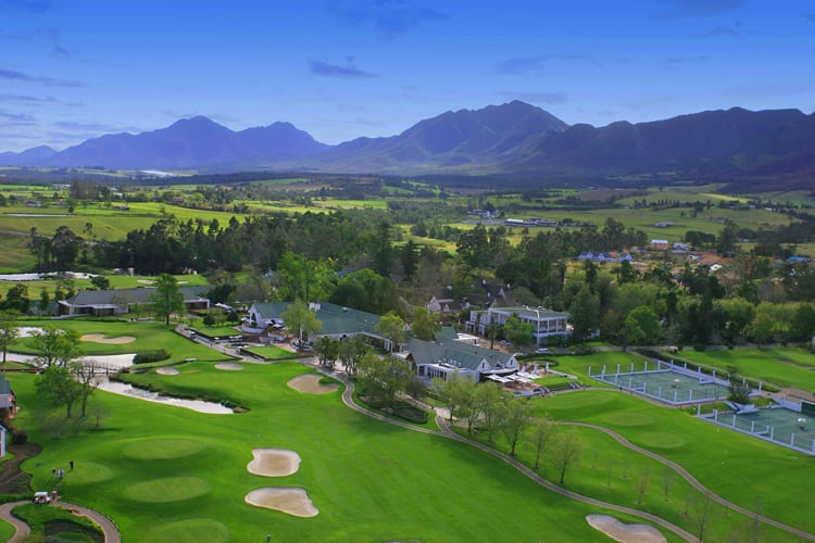 Aerial view at Fancourt Hotel in South Africa